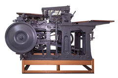 Old press machine Stock Image