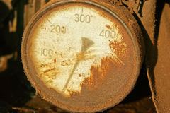 Old pressure gauge Stock Image