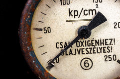 Old pressure gauge Royalty Free Stock Image