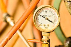 Old pressure gauge Stock Photo