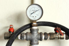 Old pressure gauge Royalty Free Stock Photos