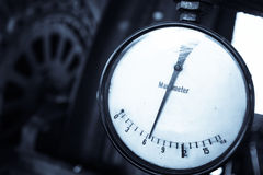 Old pressure gauge Royalty Free Stock Images