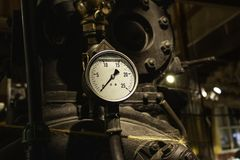 Old pressure gauge stock photography