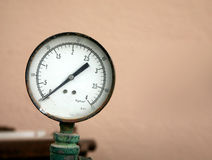Old pressure gauge (manometer) Stock Photos