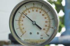 Old pressure gauge, measuring instrument Stock Image