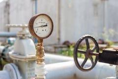 Old pressure gauge Royalty Free Stock Photo