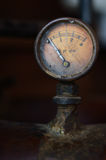 Old pressure  guage, load meter Stock Photo