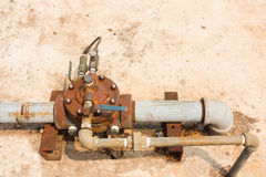 Old pressure relief valves Stock Images