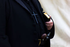 Old priest. From modern century Stock Images