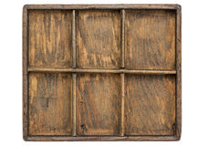 Old primitive typesetter case Royalty Free Stock Photos