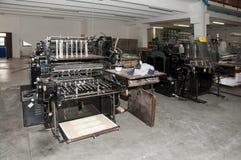 Old print finishing machine Royalty Free Stock Photos