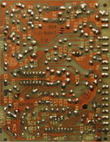 Old printed circuit boards. PCB Royalty Free Stock Photography