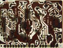 Old printed circuit boards Royalty Free Stock Images