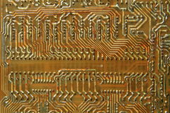 Old printed circuit boards. PCB Stock Photos