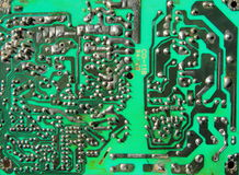 Old printed circuit boards Stock Images