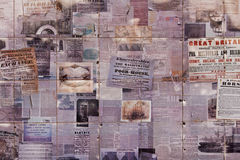 Old Printed Matter Collage Royalty Free Stock Image