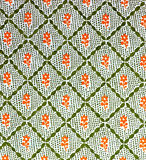 Old printed pattern. Old printed flower  pattern Stock Photography