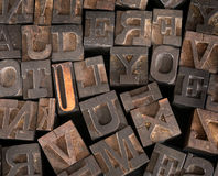 Old Printer Letters Royalty Free Stock Image