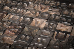 Old Printer Letters Spell out I Love You - Slanted Royalty Free Stock Photography