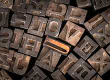 Old Printer Letters Spell out Love Royalty Free Stock Photo