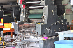 Old printing machine Royalty Free Stock Photography