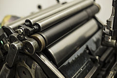 Old printing machine Royalty Free Stock Photos