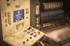 old printing machine stock photo