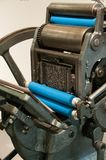 Old printing machinery. That still works found in Spain, Madrid royalty free stock image
