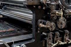 Old printing machinery. That still works found in Spain, Madrid stock photo