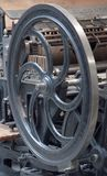 Old printing machinery. That still works found in Spain, Madrid.n stock photography