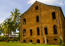 French Guiana old prison. The old prison on the one  of three islands Îles du Salut - a small part of the French colony in French Guiana. Near the Devils Island Stock Photo