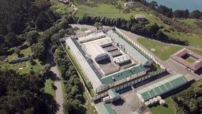 Aerial, Abandoned Prison Site 4k Pan