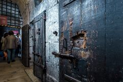Free Old Prison At The Doge`s Palace Palazzo Ducale, Venice. It Is Famous Tourist Attraction Of City. Historical Dungeon With Vintage Royalty Free Stock Image - 169794866