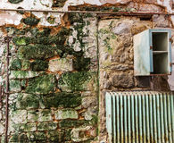 Old prison brick wall stock photos