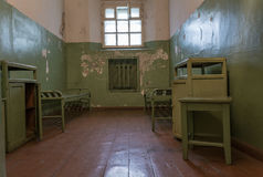 Old Prison cell. Inside of old KGB prison in Lithuania, former USSR Stock Photos