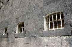 Old prison cell windows Stock Image