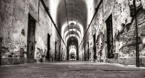 Old prison hallway Royalty Free Stock Images