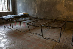 Old prison rope bed. Old Russian prison, rope bed Royalty Free Stock Image