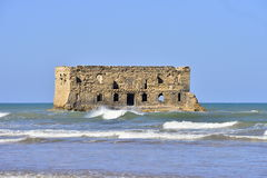 Old prison in Tarfaya. In Morocco with sea Stock Photography