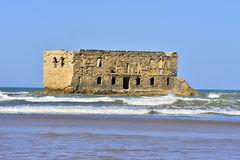 Old prison in Tarfaya. In Morocco with sea Royalty Free Stock Photo