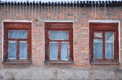 old prison wall 免版税库存照片
