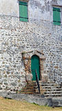 Old Prison wall in Charlotte Amalie Stock Photo