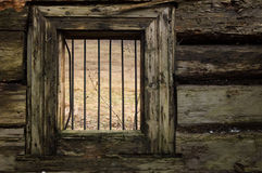 Old prison window Stock Photos