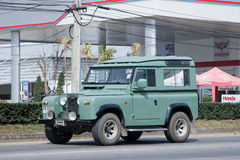 Old Private car. Land Rover mini Truck. Royalty Free Stock Photo