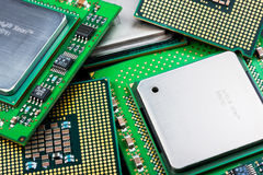 Old processors stock image