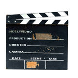 Old production clapper board. Old and used  production clapper board Royalty Free Stock Images