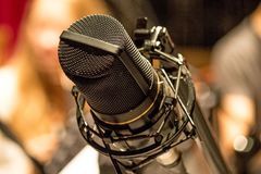 Old professional microphone royalty free stock photography