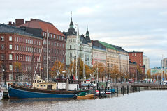 Old promenade of Helsinki. Stock Photos