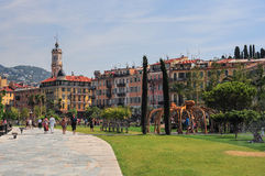Old promenade in Nice with fountains Royalty Free Stock Image