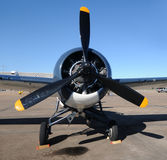Old propeller airplane Royalty Free Stock Photo